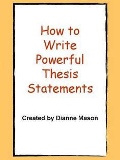 Thesis Characteristics Online Writing Center SUNY
